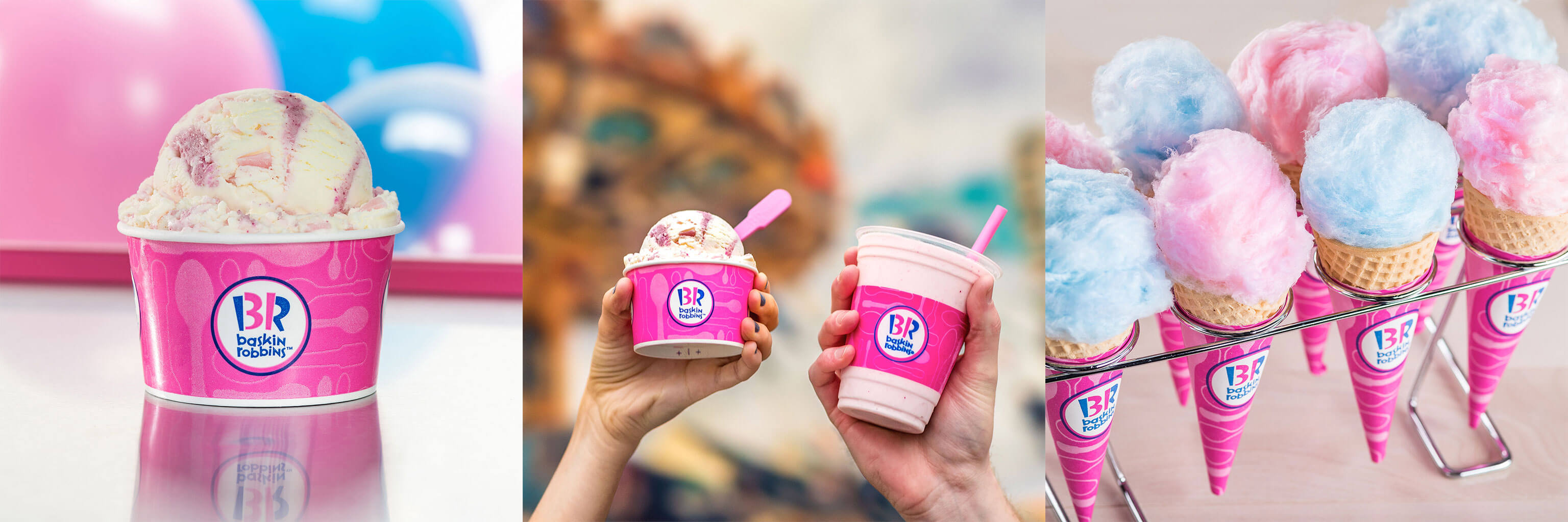 A collage of photography Smith Bros did for Baskin Robbins.
