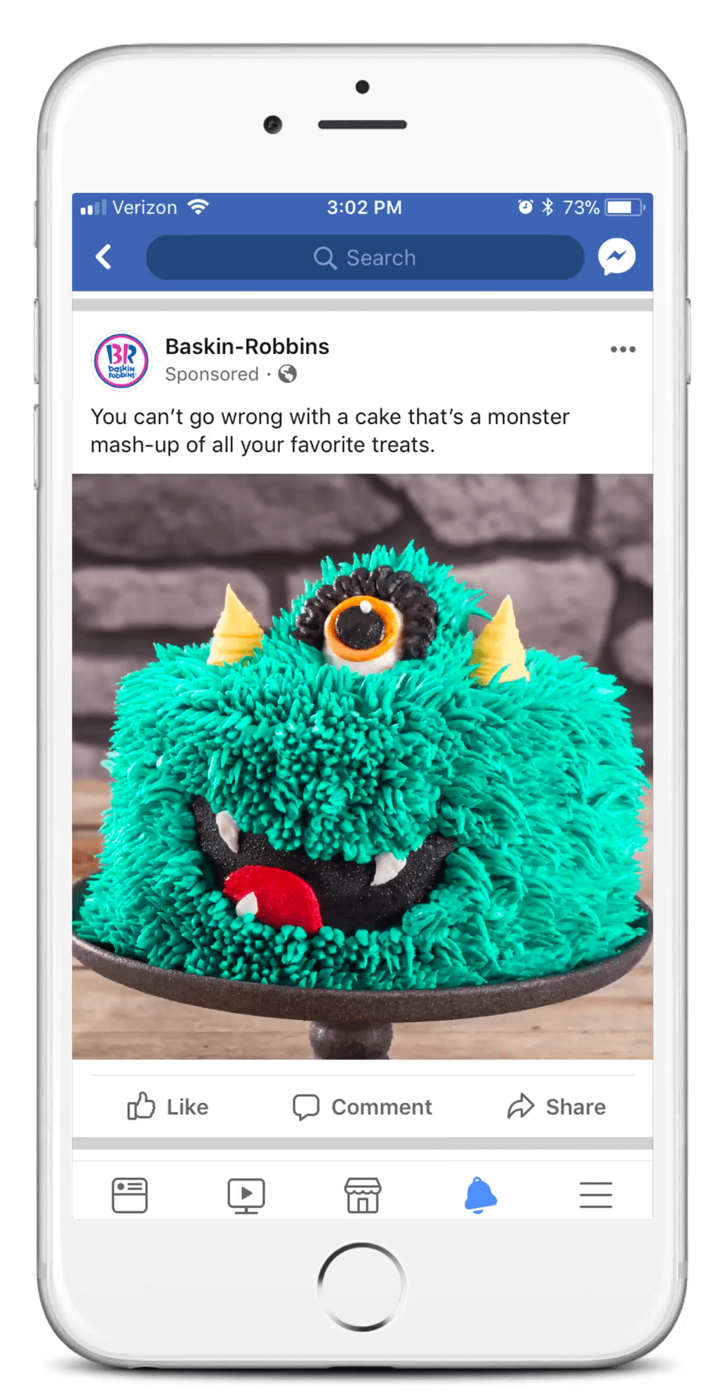 Baskin Robbins Social content preview.