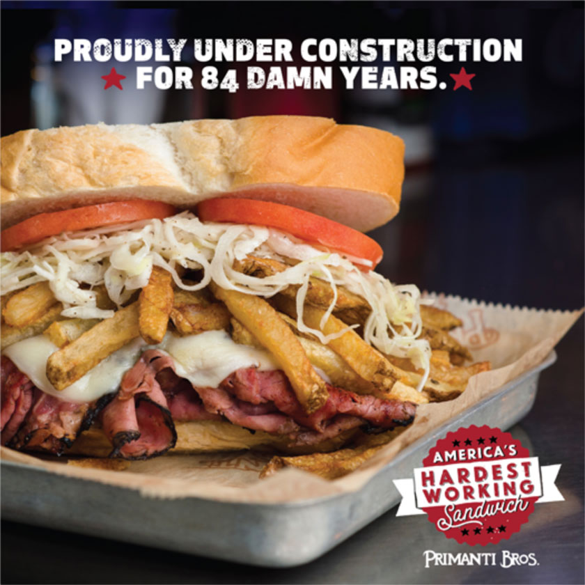 Primanti's Under Construction social post.